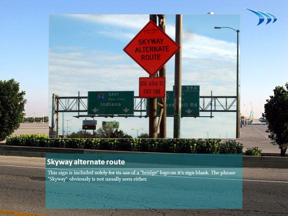 Skyway alternate route