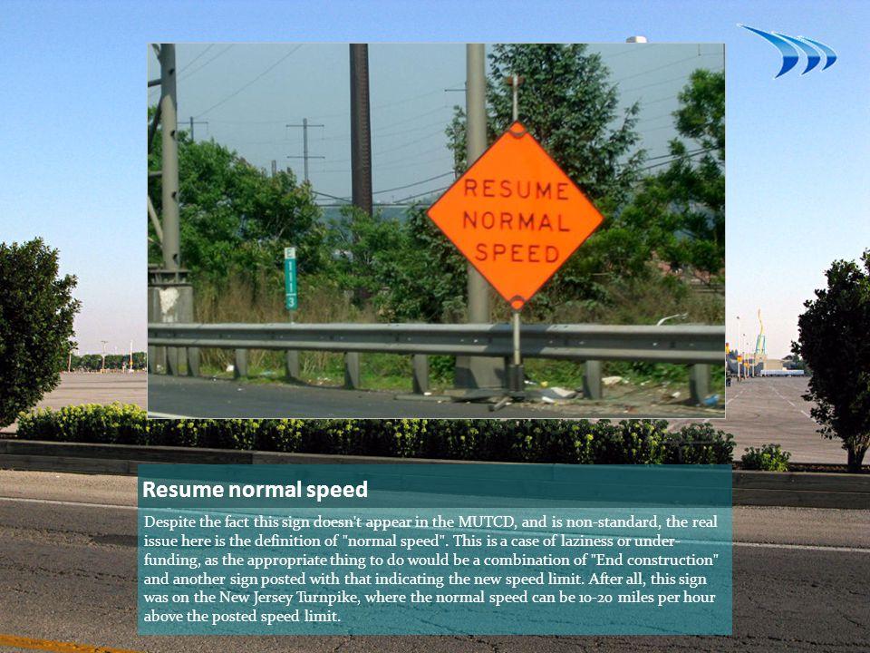 Resume normal speed