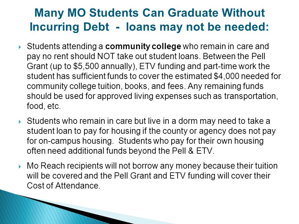 Many MO Students Can Graduate Without Incurring Debt - loans may not be needed: