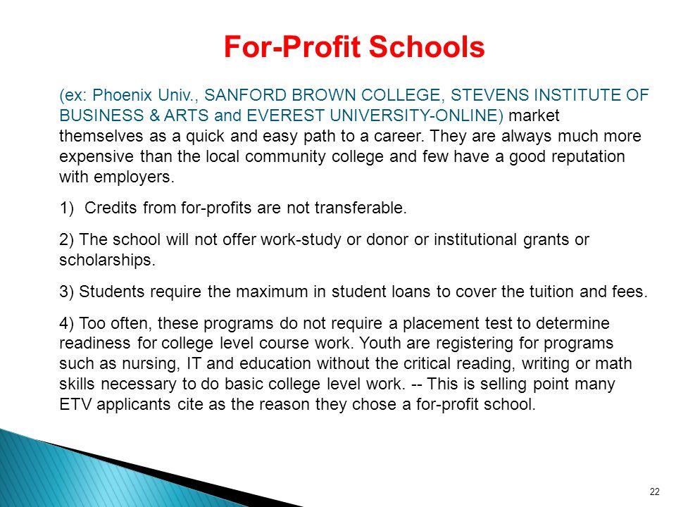 For-Profit Schools