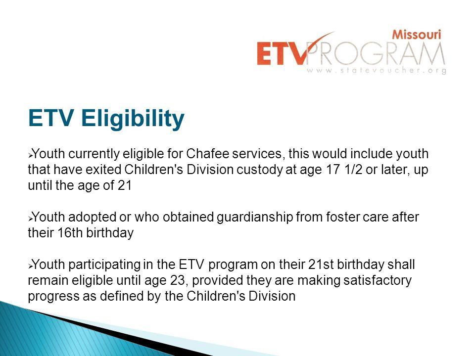 ETV Eligibility