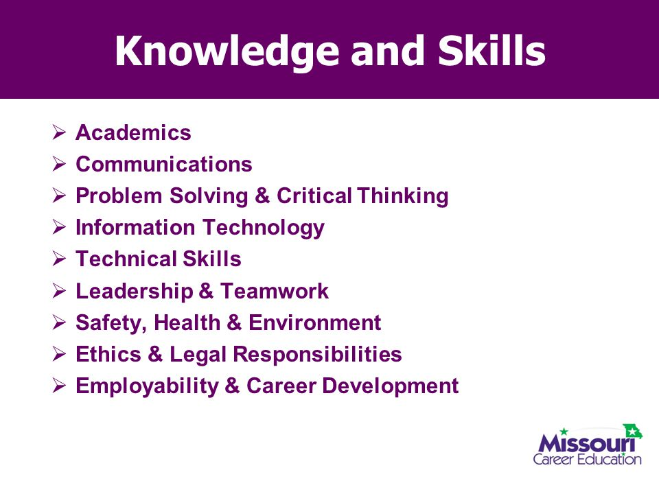 Knowledge and Skills Academics Communications