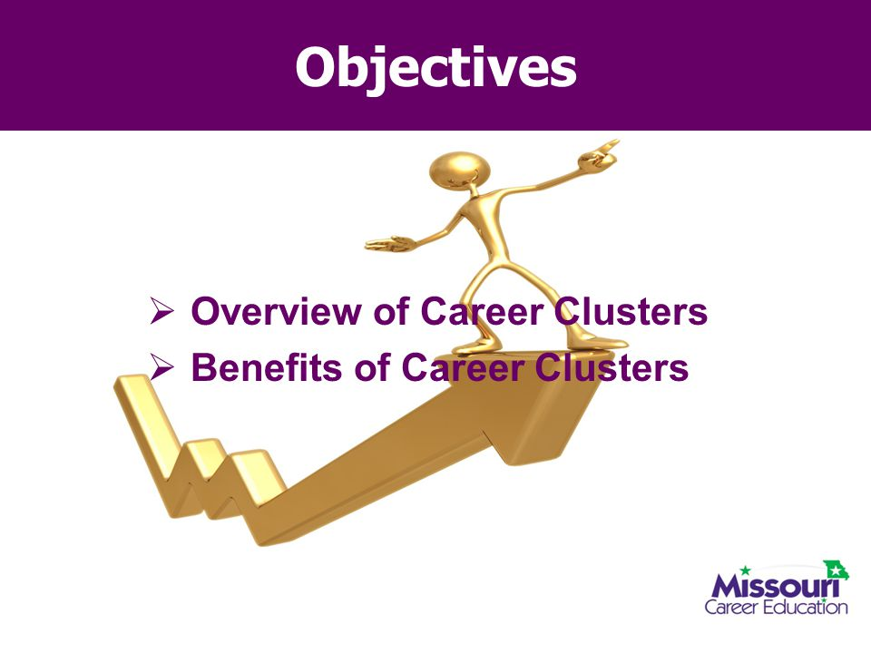 Objectives Overview of Career Clusters Benefits of Career Clusters
