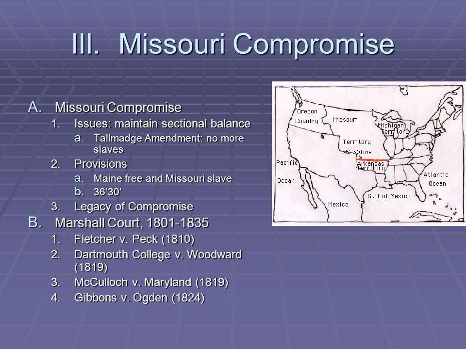 III. Missouri Compromise