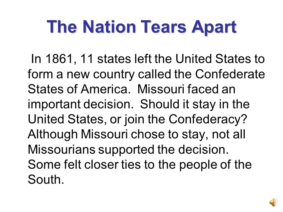 The Nation Tears Apart