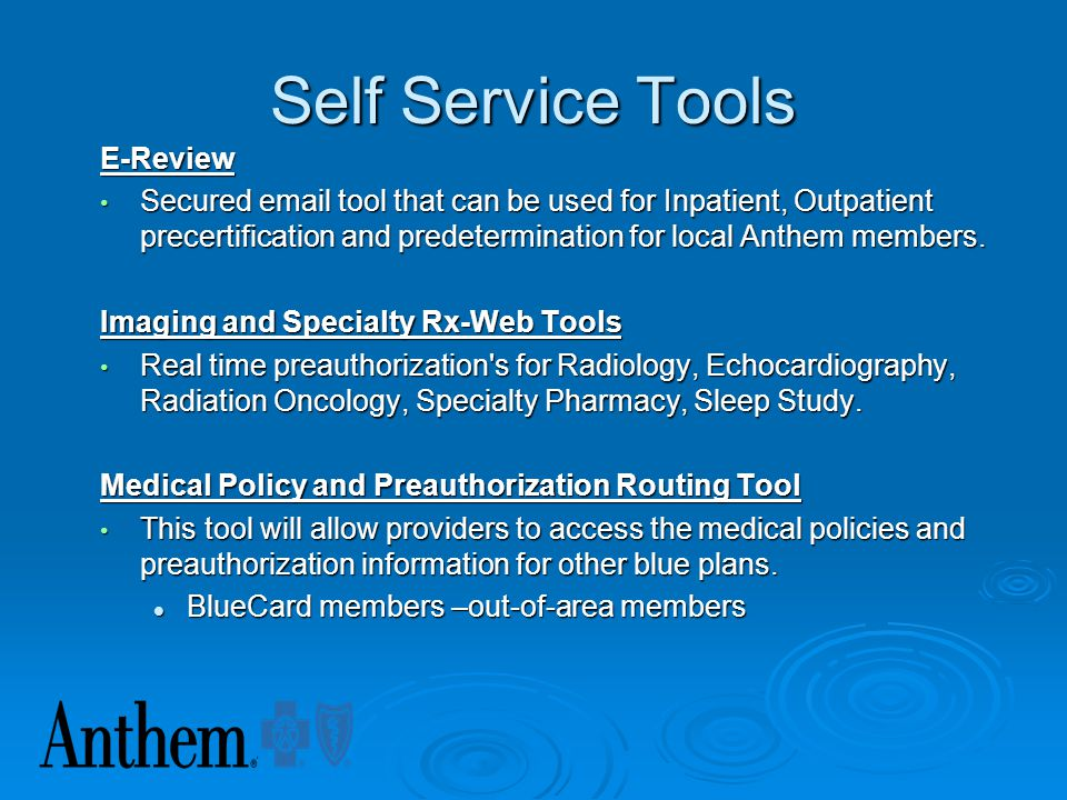 Self Service Tools E-Review
