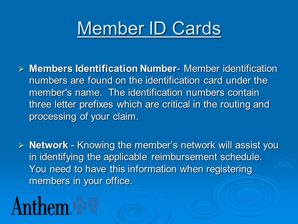 Member ID Cards