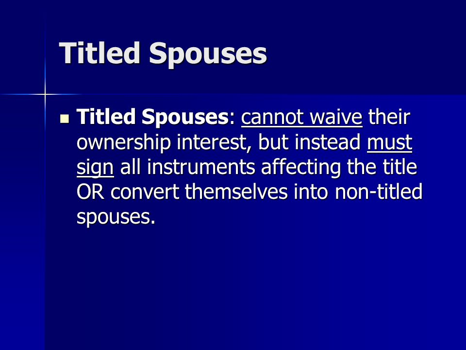 Titled Spouses
