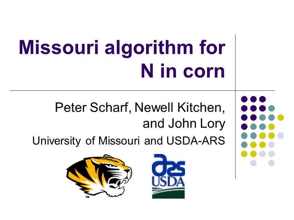 Missouri algorithm for N in corn