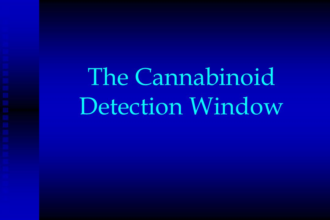 The Cannabinoid Detection Window