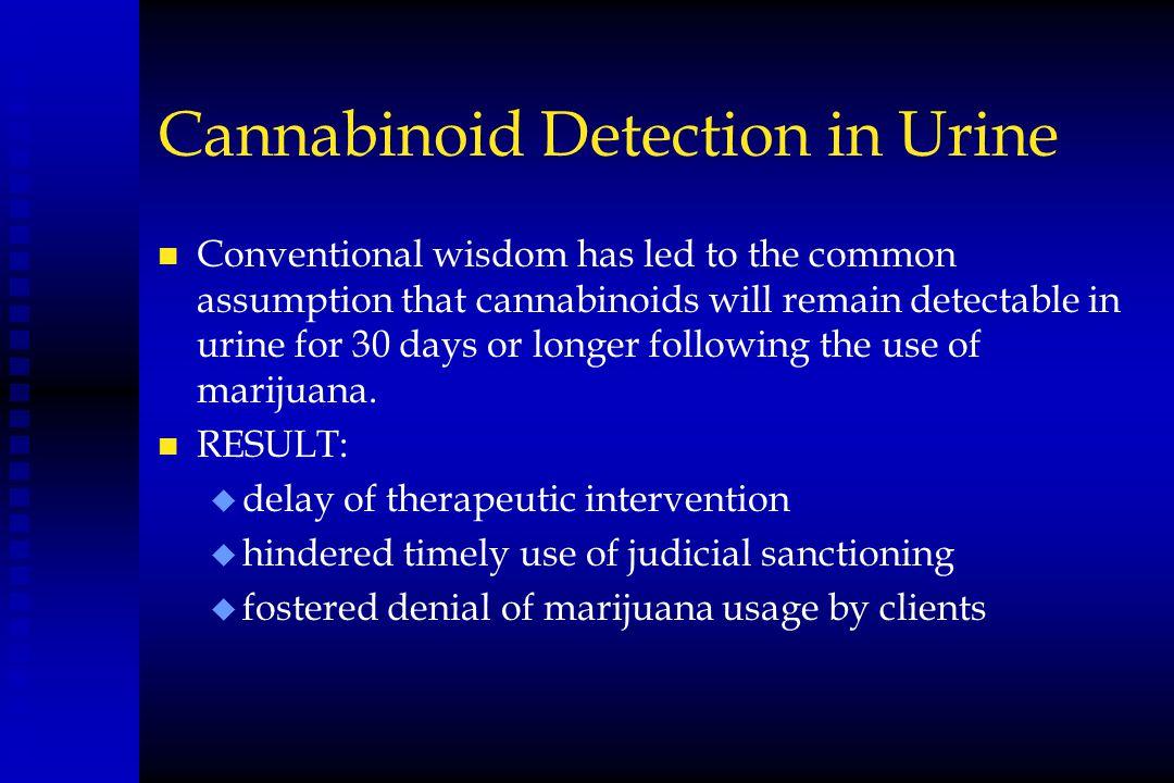 Cannabinoid Detection in Urine