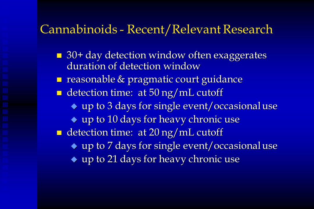 Cannabinoids - Recent/Relevant Research