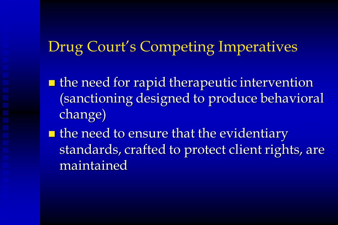 Drug Court's Competing Imperatives