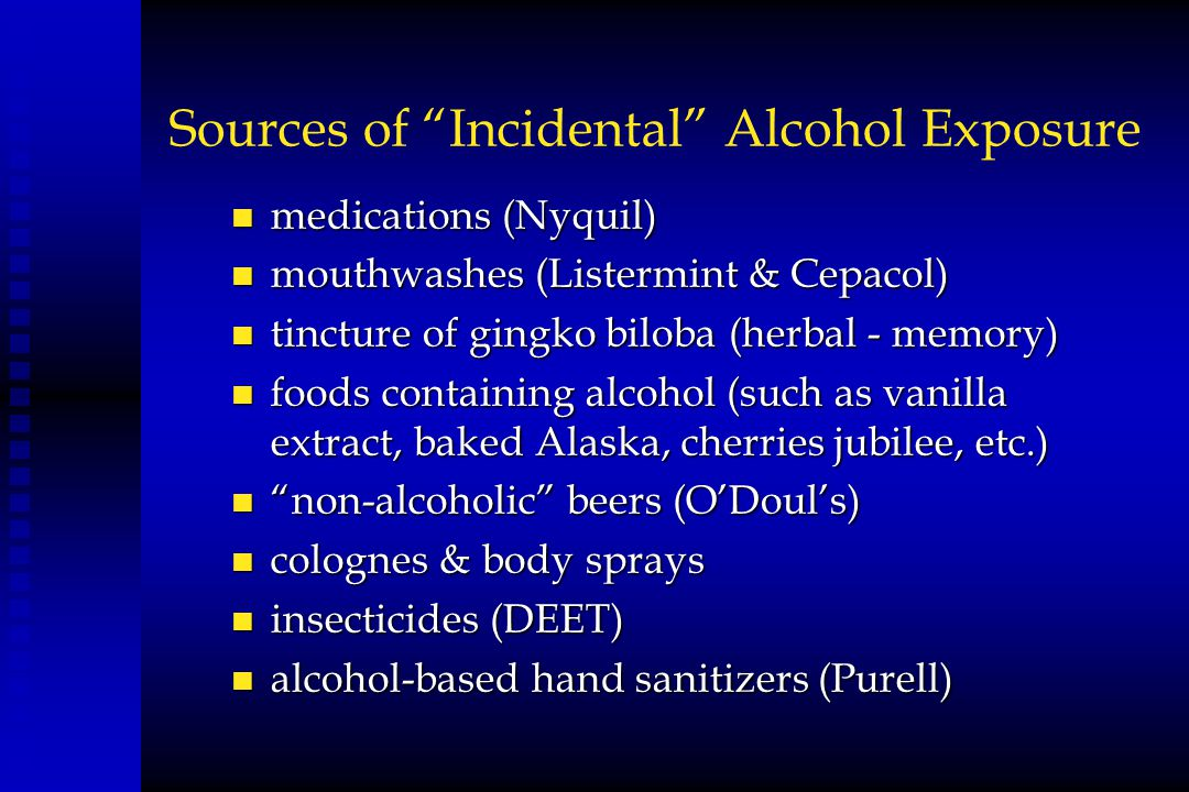Sources of Incidental Alcohol Exposure