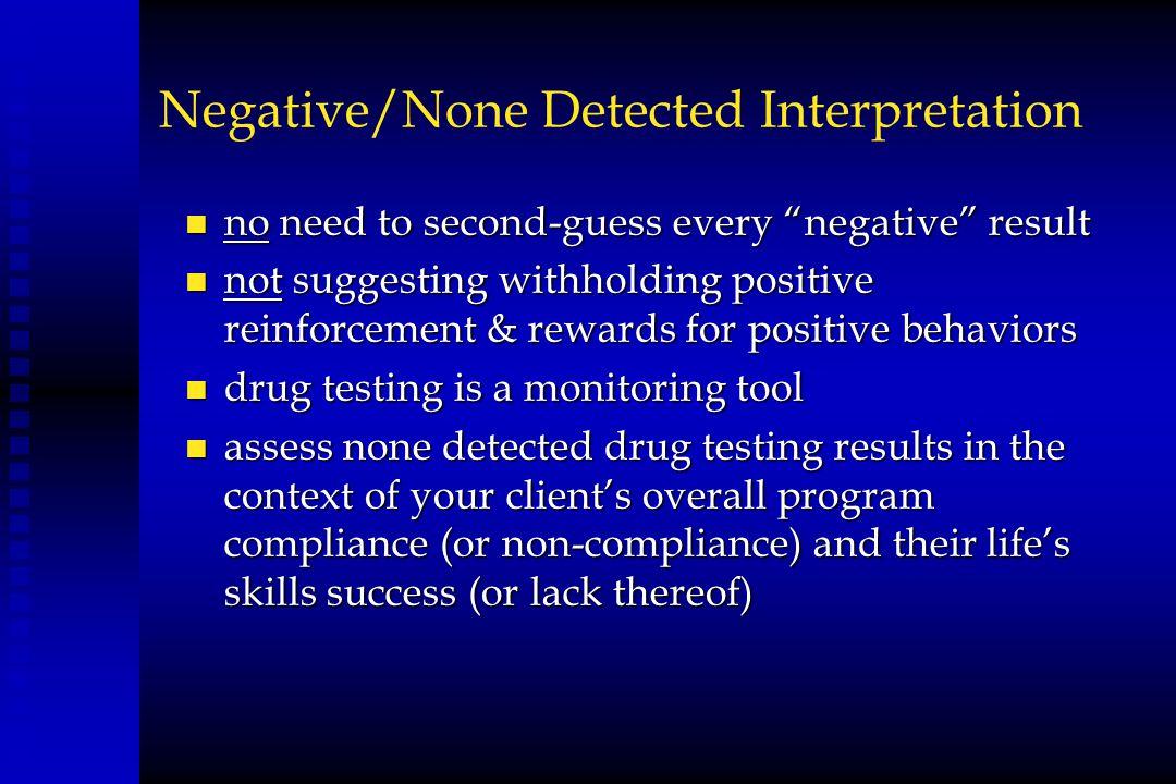 Negative/None Detected Interpretation