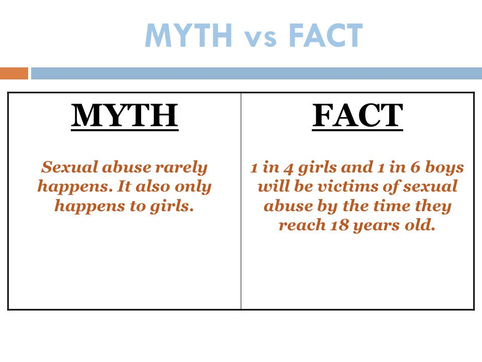 Sexual abuse rarely happens. It also only happens to girls.