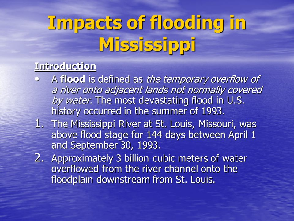 Impacts of flooding in Mississippi