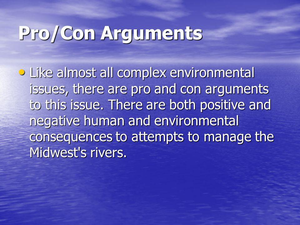 Pro/Con Arguments