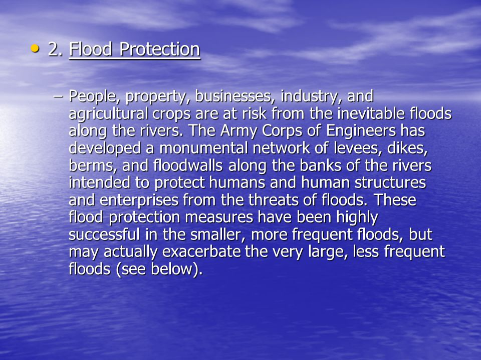 2. Flood Protection