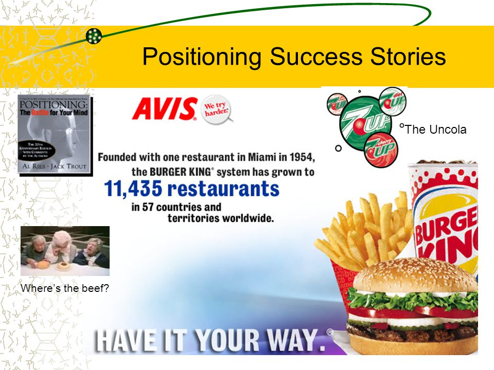 Positioning Success Stories