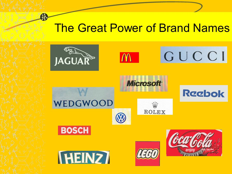 The Great Power of Brand Names