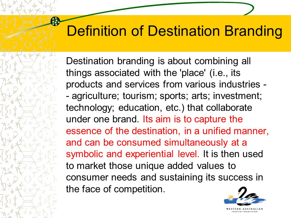 Definition of Destination Branding
