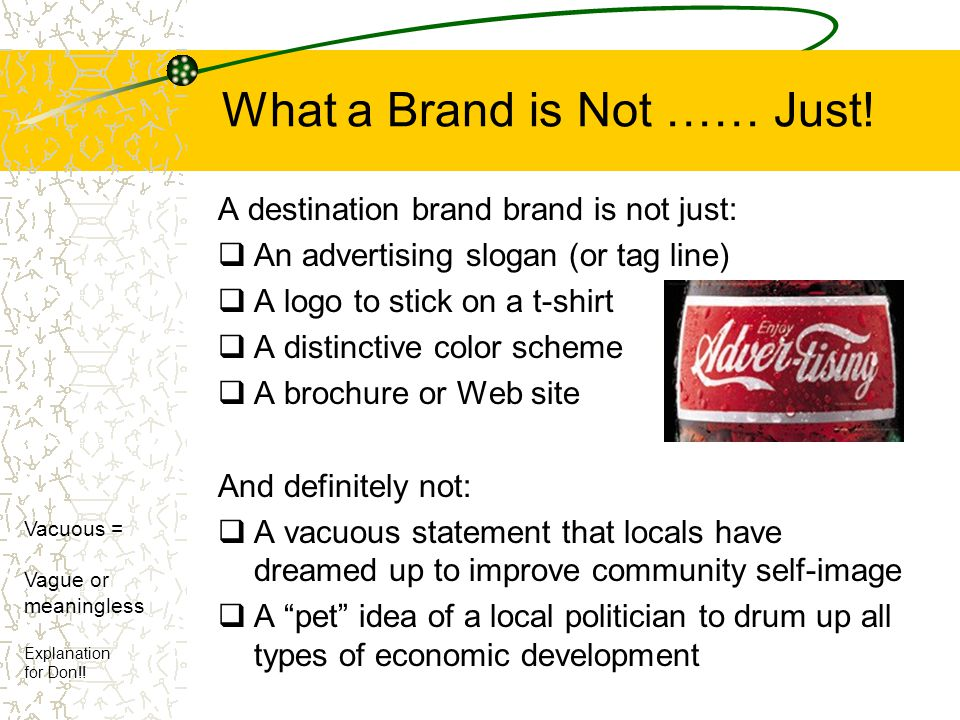 What a Brand is Not …… Just!