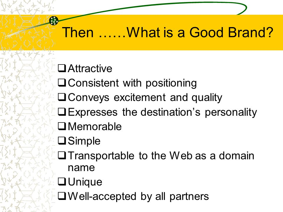Then ……What is a Good Brand