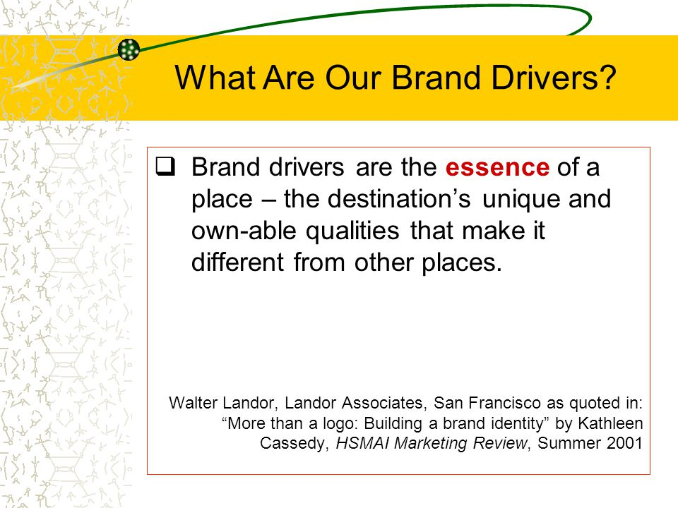 What Are Our Brand Drivers