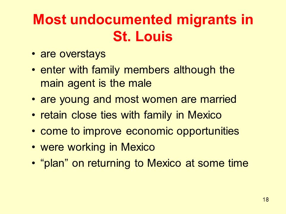 Most undocumented migrants in St. Louis