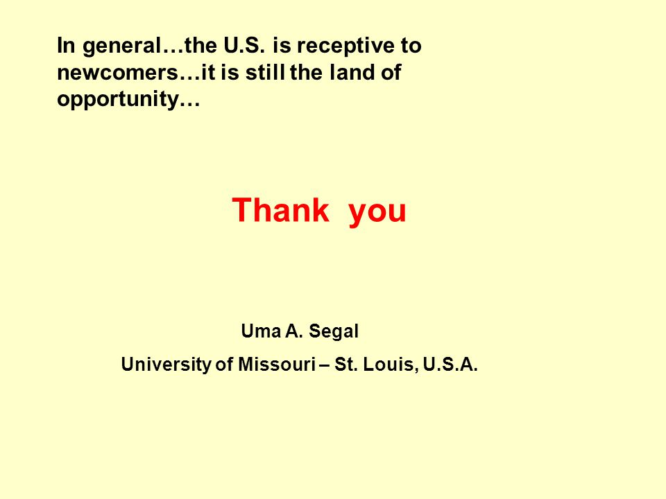 University of Missouri – St. Louis, U.S.A.