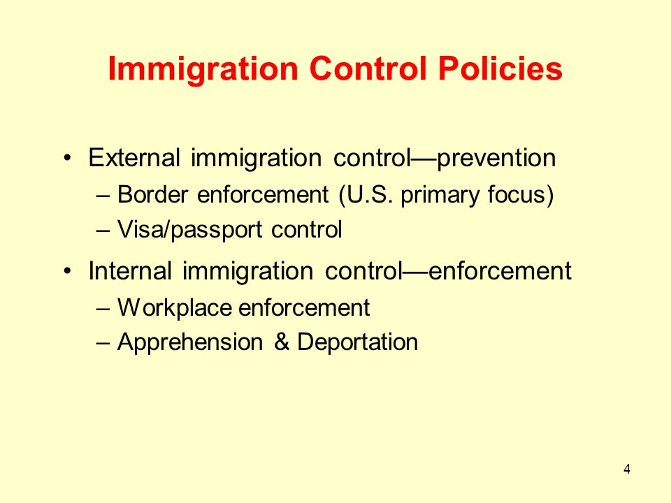 Immigration Control Policies