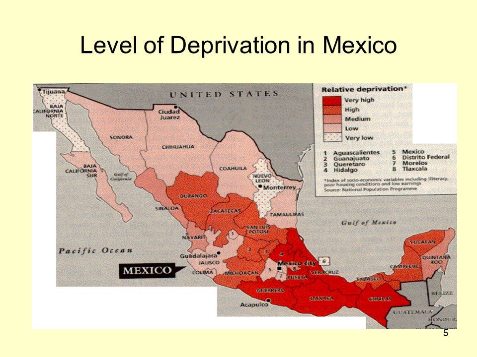 Level of Deprivation in Mexico