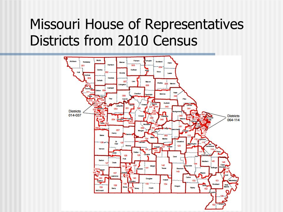 Missouri House of Representatives Districts from 2010 Census