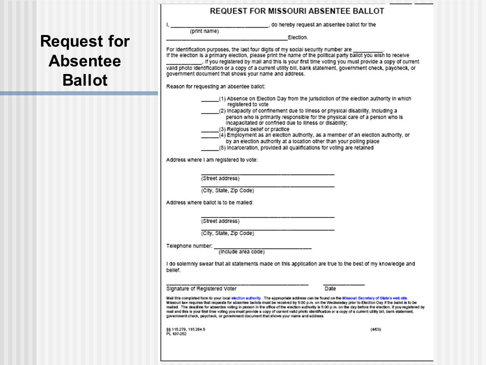Request for Absentee Ballot