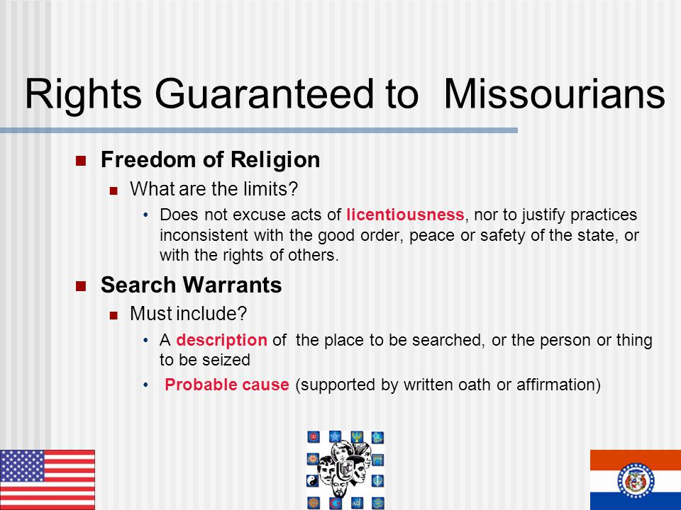 Rights Guaranteed to Missourians