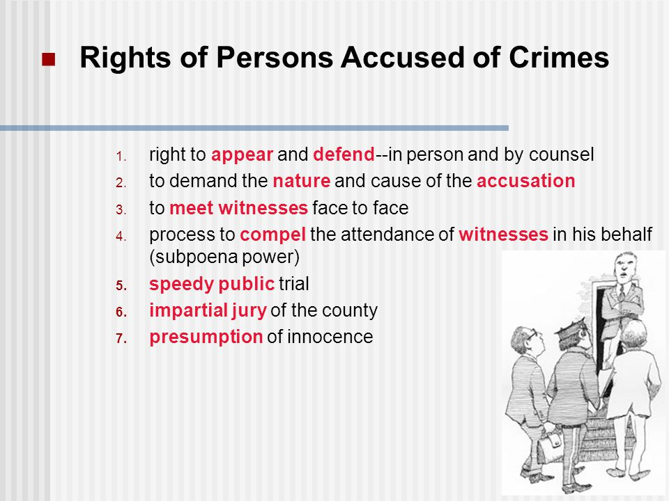 Rights of Persons Accused of Crimes