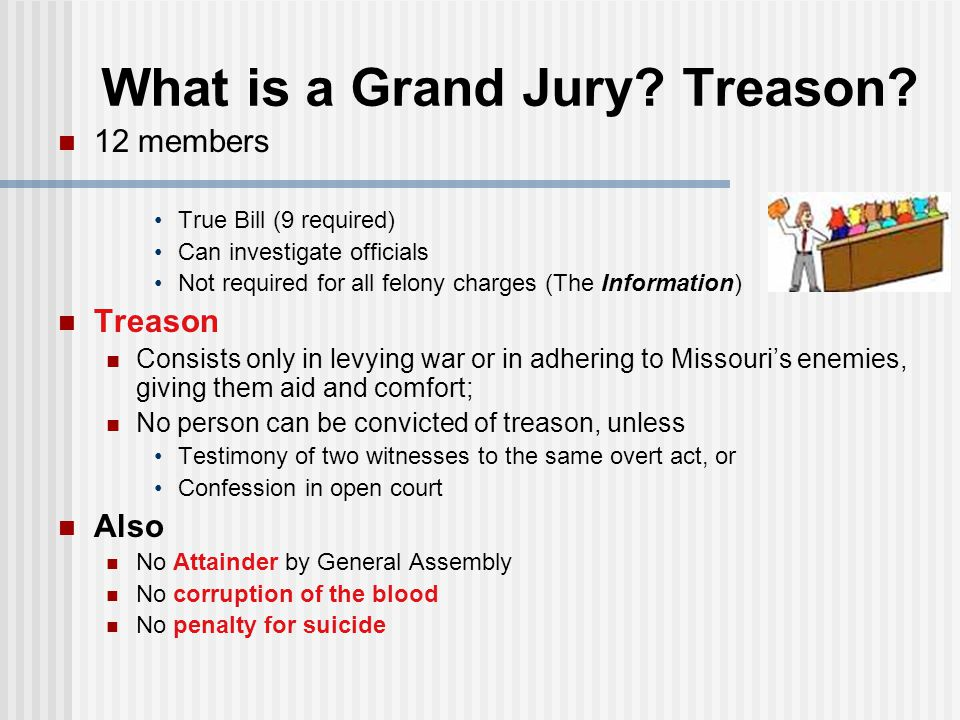 What is a Grand Jury Treason