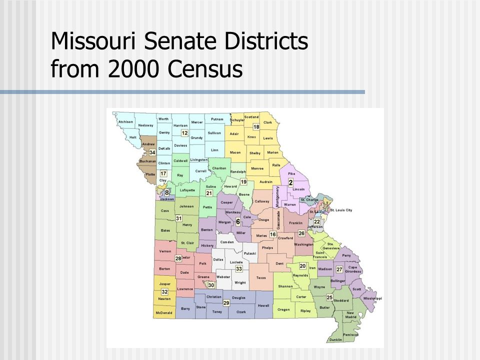 Missouri Senate Districts from 2000 Census