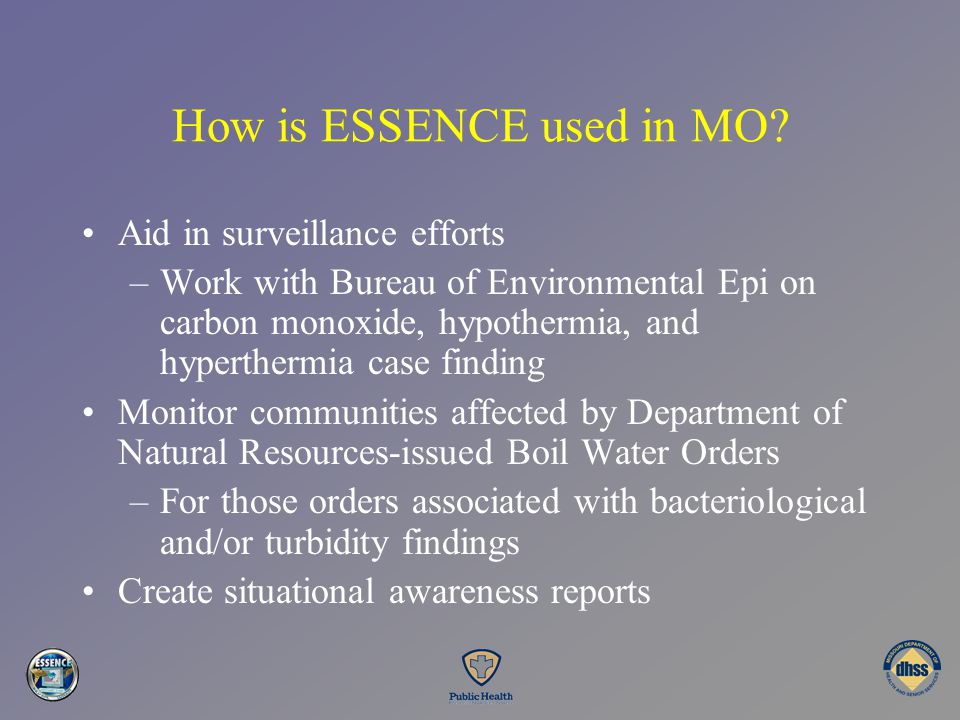 How is ESSENCE used in MO