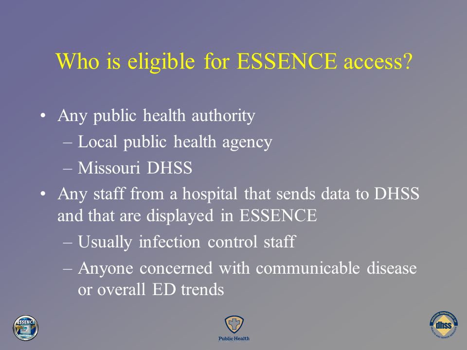 Who is eligible for ESSENCE access