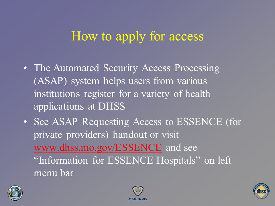 How to apply for access