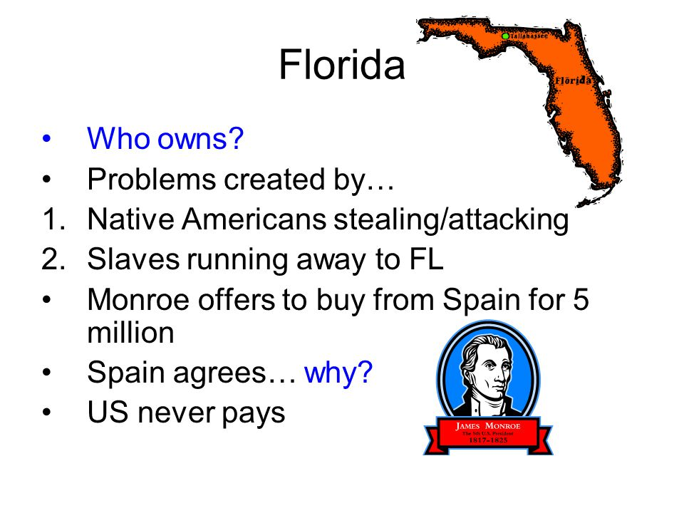 Florida Who owns Problems created by…