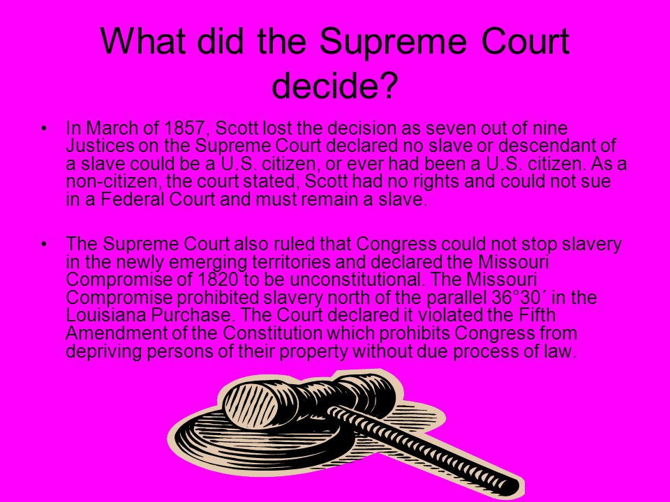 What did the Supreme Court decide