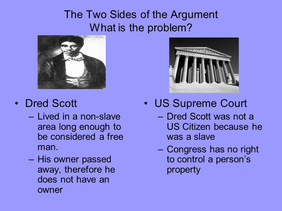 The Two Sides of the Argument What is the problem