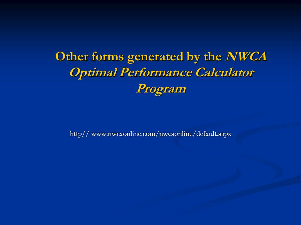 http// www.nwcaonline.com/nwcaonline/default.aspx