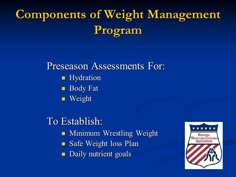 Components of Weight Management Program