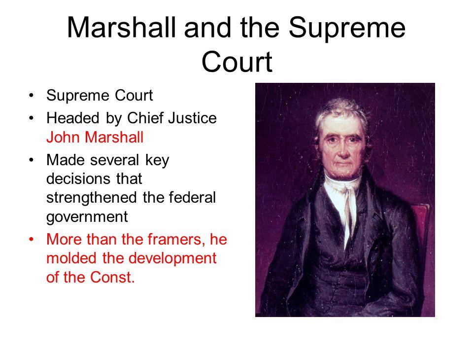 Marshall and the Supreme Court
