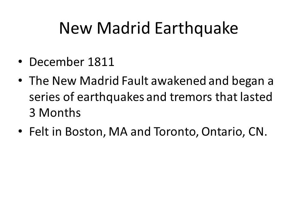 New Madrid Earthquake December 1811