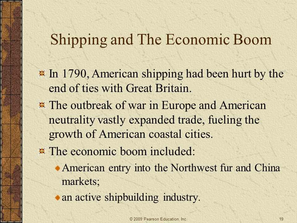 Shipping and The Economic Boom